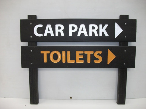 Direction Sign - Wood Plastic Composite Sign