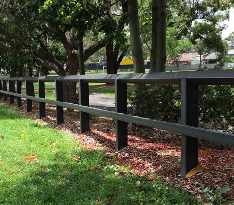 WPC Post and Rail Fencing