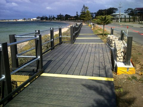 WPC Boardwalk and Bollards, SA