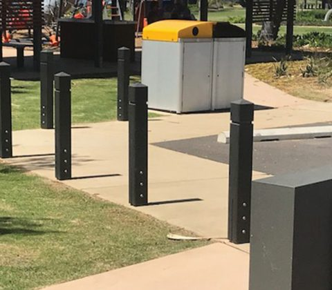 WPC Park Bollards with Sleeve