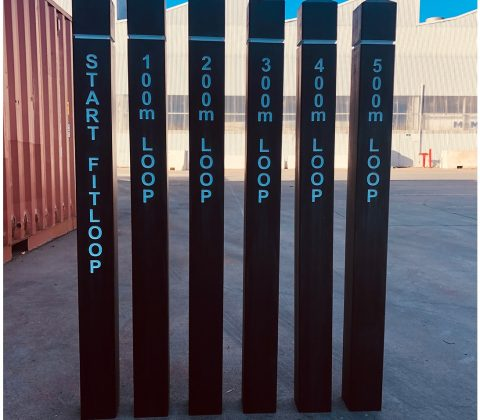 WPC Bollard Sign Posts with Lettering
